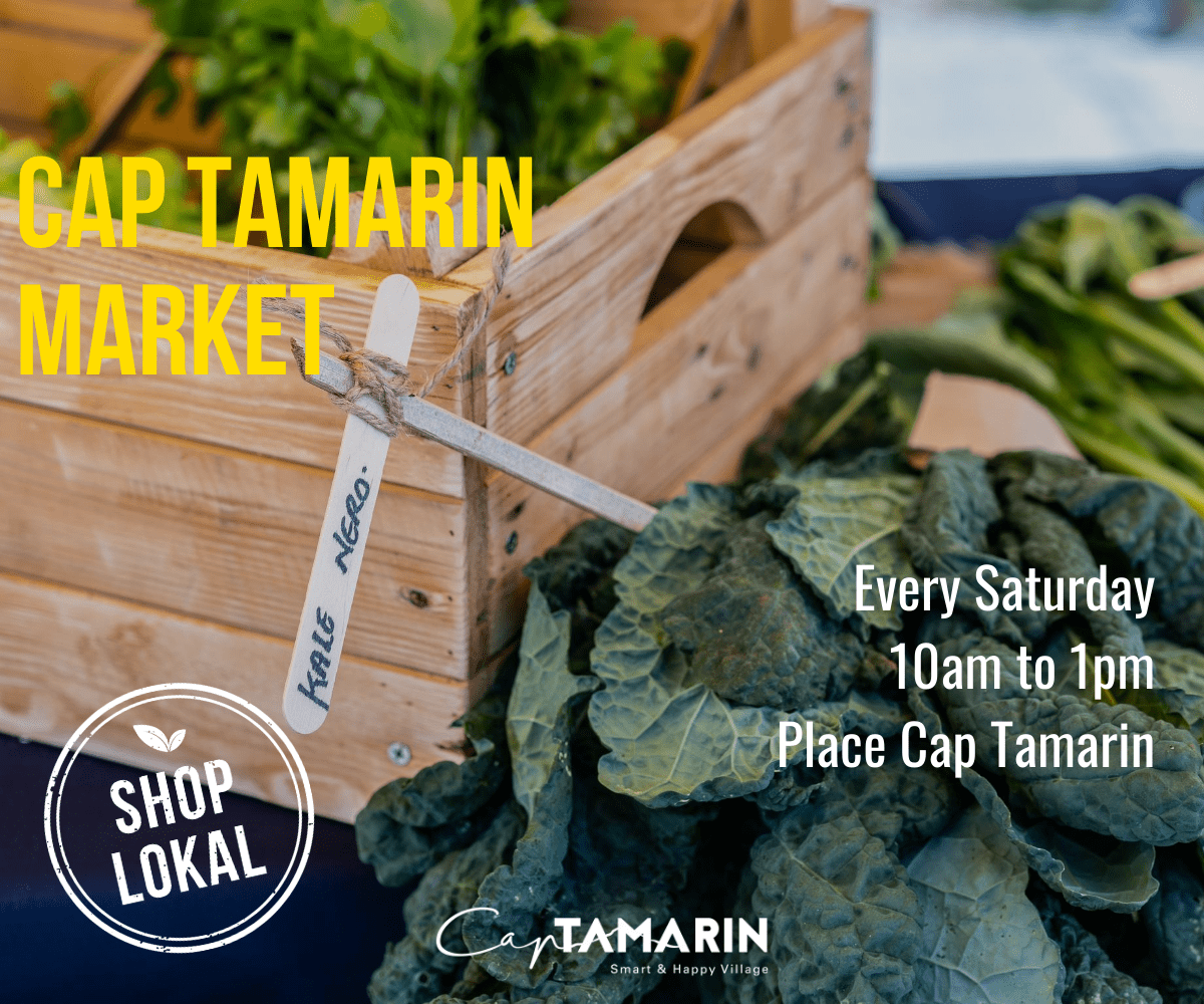 Cap Tamarin Market – every Saturday from 10am to 1pm